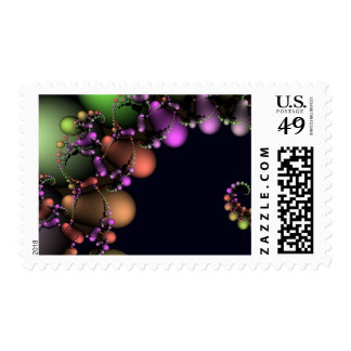 Festive Abstract Bubbles Postage