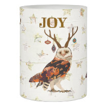 FESTIVE ANTLER OWL Candle