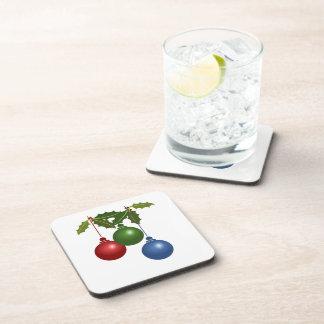 Festive Baubles Drink Coaster