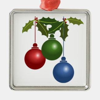 Festive Baubles Metal Ornament