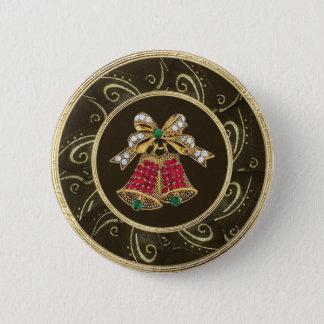 Festive Bells Jewels Photo Print Button