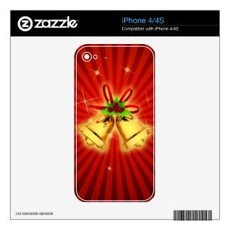 Festive Bells iPhone 4S Skins