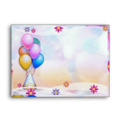 ... envelope for birthday party invitations and or wish
