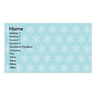 Festive Blue Business Cards