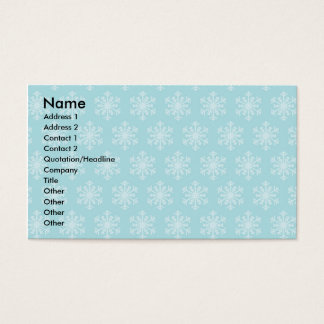 Festive Blue Business Cards