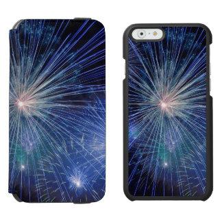 Festive Blue Fireworks iPhone 6/6s Wallet Case