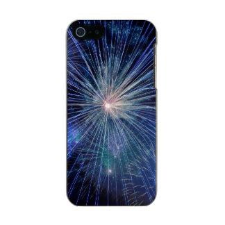 Festive Blue Fireworks Incipio Feather® Shine iPhone 5 Case