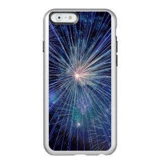 Festive Blue Fireworks Incipio Feather® Shine iPhone 6 Case