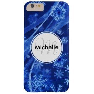 Festive Blue Snowflake Winter Paradise