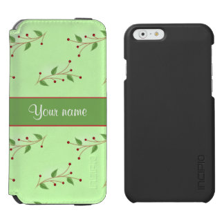 Festive Branches and Berries iPhone 6/6s Wallet Case
