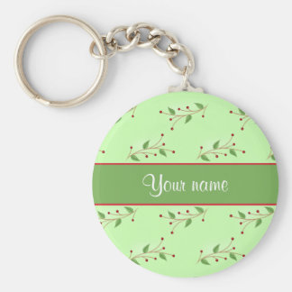 Festive Branches and Berries Keychain