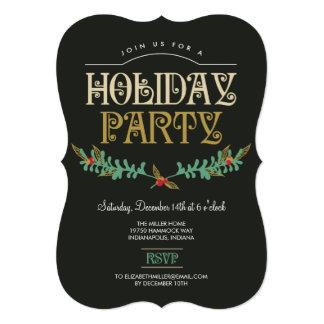 Festive Branches Holiday Party Invitation Invite