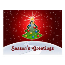 festive business Christmas Greeting PostCards