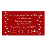 Festive Business Promotional Punch Card Business Card Template