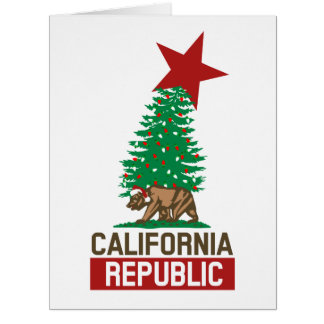Festive California Republic for the Holidays Card