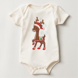 Festive Cartoon Baby Bodysuit