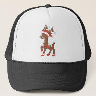 Festive Cartoon Trucker Hat