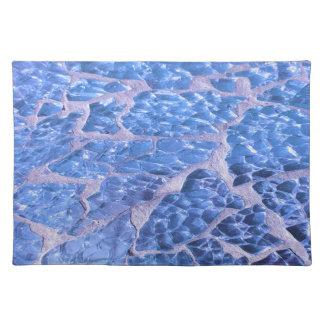 Festive Chic Glitter Blue Stones Placemat