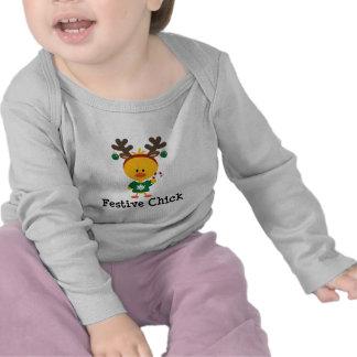 Festive Chick Tee Shirts