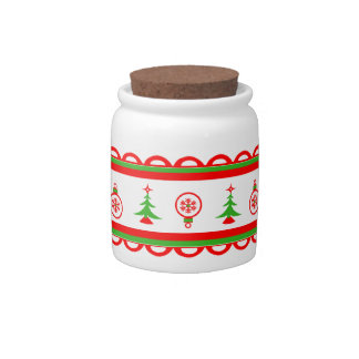 Festive Christmas Art Candy Jar Sugar Container