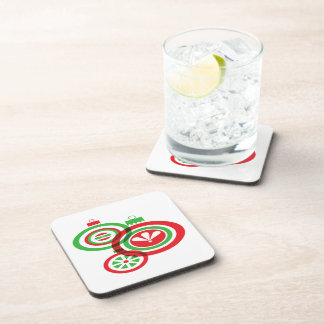 Festive Christmas Baubles Drink Coaster