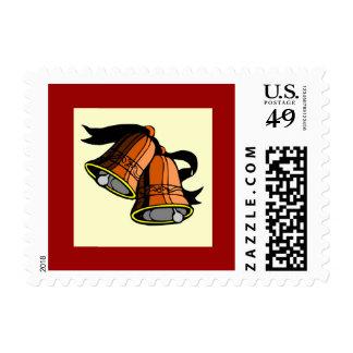 Festive Christmas Bells Postage Stamps