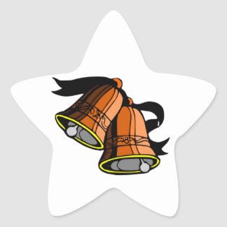 Festive Christmas Bells Star Sticker