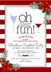 Festive Christmas Tail Party Invitation