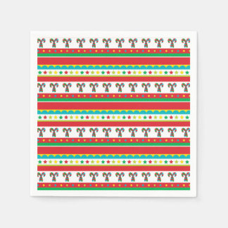 Festive Christmas Colors Christmas Pattern Paper Napkin