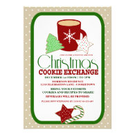 Festive Christmas Cookie Exchange Party Announcement
