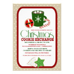 Festive Christmas Cookie Exchange Party Custom Invite