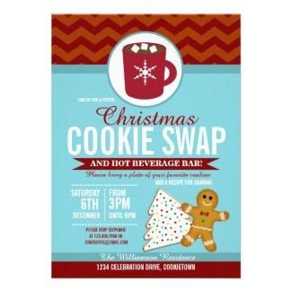 Festive Christmas Cookie Swap Party Custom Announcement