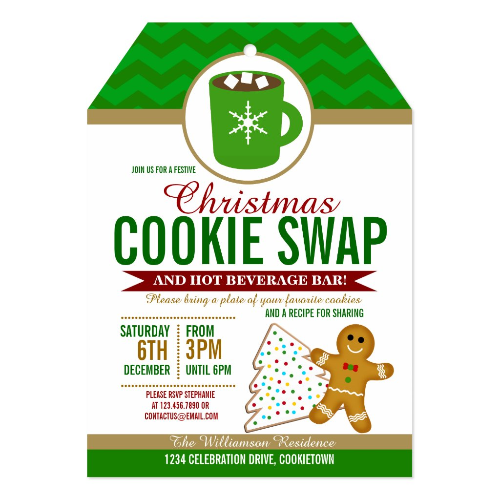 Festive Christmas Cookie Swap Party Invitation