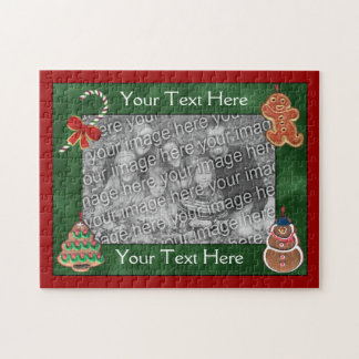 Festive Christmas Cookies Holiday Your Photo Jigsaw Puzzle