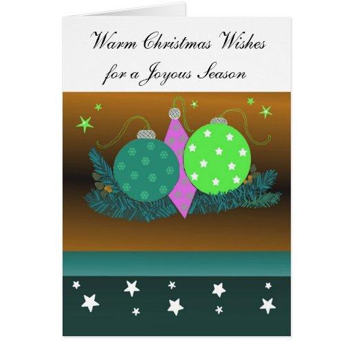 Festive Christmas Decorations Greeting Card