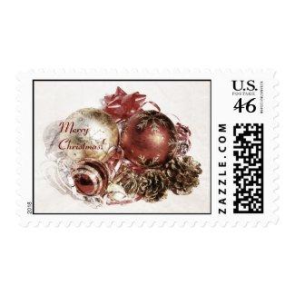 Festive Christmas decorations postage