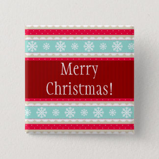 Festive Christmas Design Custom Text Pinback Button