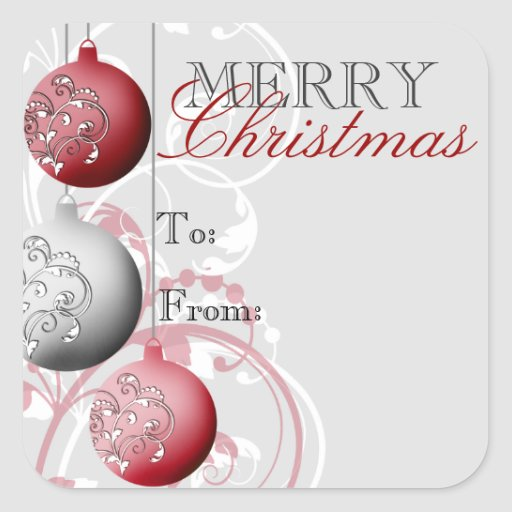 Festive Christmas Gift Tag Sticker