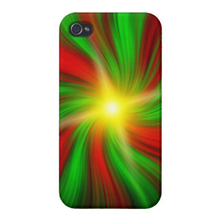 Festive Christmas Holiday Vortex (iPhone 4 Case) Cover For iPhone 4
