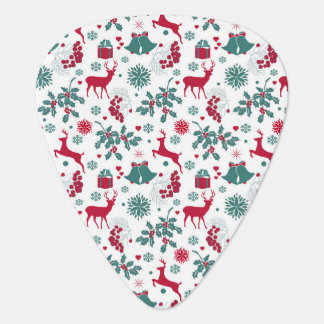 Festive Christmas holidays theme illustration Guitar Pick