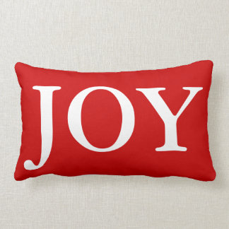 Festive Christmas Joy Red White Holiday Pillow