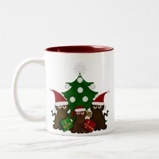 Festive Christmas Kitty Mug mug