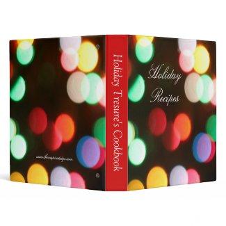 Festive Christmas Lights Red Holiday Recipe Binder binder