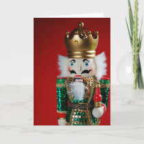 Festive christmas nutcracker greeting card