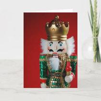 Festive christmas nutcracker greeting card
