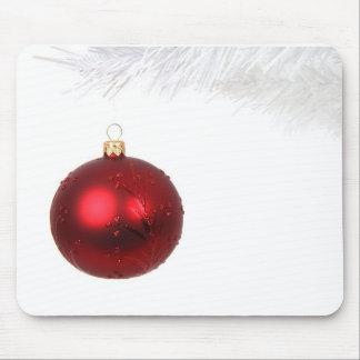 Festive Christmas Ornament Mouse Pad