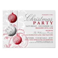 Festive Christmas Party Invitation