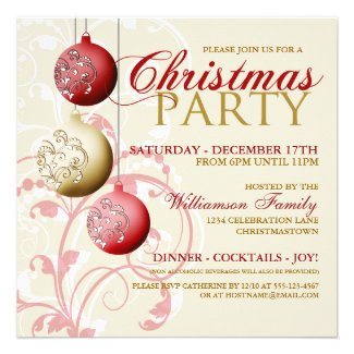 Festive Christmas Party Invitation