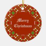 Festive Christmas Pattern Christmas Tree Ornament