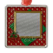 festive christmas photo ornament